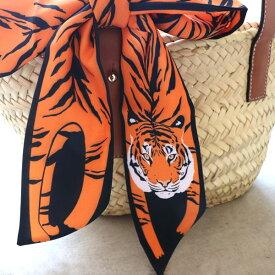 ファッションのアクセントに♪タイガー デザイン スカーフ【TD】【メール便選択で送料無料】【クリスマス ギフト】