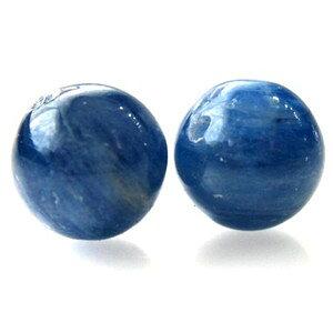 1粒売り カイヤナイト 12.0mm玉 ランクAA 天然石ビーズ 丸玉 バラ売り 穴あき パワーストーン