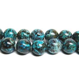 1粒売り 天然石ビーズ クリソコラ(珪孔雀石) AAA 6.0mm玉 1粒
