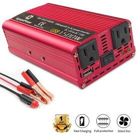 【30日間無料交換】あす楽 インバーター 12V 100V シガーソケット コンセント DC AC 700W 最大1500W USB 3.1A 2ポート 緊急 防災グッズ キャンプ 車中泊 アウトドア 車 カーインバーター LVYUAN(リョクエン)