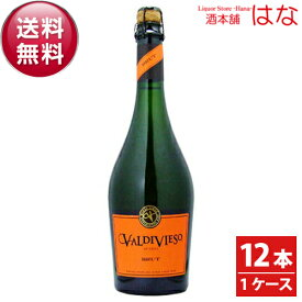 【送料無料】バルディビエソ・ブリュット・NV 1ケース 750ml×12本(泡・白) 【クール便がオススメ】<チリ ワイン 辛口 スパークリングワイン ギフト プレゼント Gift 結婚祝い 内祝い お酒 パーティーに 白ワイン>