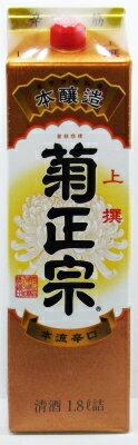 菊正宗 上撰 さけ 1.8Lパック【清酒】<日本酒 寒中見舞い お年賀 日本酒 ギフト プレゼント Gift 贈答品 お酒 日本酒 紙パック>