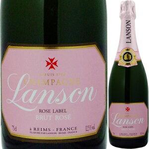 【シャンパーニュ・シャンパン】ランソン・ロゼラベル・ブリュット NV 750ml(泡・ロゼ) 【クール便がオススメ】<ギフト シャンパン ワイン 辛口 父の日 ギフト プレゼント Gift 結婚祝い