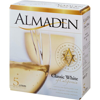 アルマデン・クラシック・ホワイト バッグ・イン・ボックス 5L (白ワイン)【クール便がオススメ】【お酒】【酒】<ボックスワイン ワイン 白 ギフト プレゼント Gift 贈答品 贈り物 結婚祝い 内祝い お酒 パック 箱>