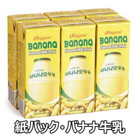 【送料無料】ビングレ バナナ 牛乳 紙パック 200ml 24個 韓国 食品 食材 料理 ドリンク 思い出の味 長期保存可能な 滅菌タイプ