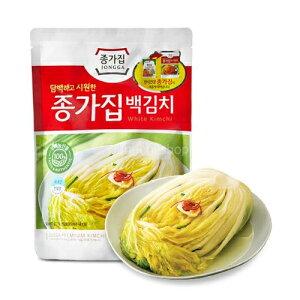 【送料無料】韓国 宗家 白 白菜 キムチ 500g x 3袋 韓国産 食品 食材 料理 おかず おつまみ 発酵食品