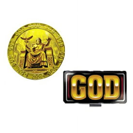 ミリオンゴッド MILLOIN GOD ゴルフマーカー MGM001 (BIGマーカーシリーズ)キャラクター グッズ 【メール便】