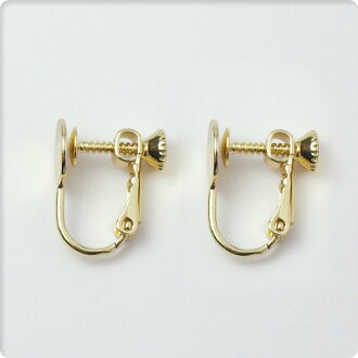 台座次螺絲環形別針耳環零件1對(2種安排)黄金