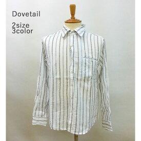 【74%オフ】Dovetail - ダブテイル -長袖 刺繍ストライプシャツ