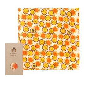 33×33cm お試し 買い足し 蜜蝋 SuperBee Beeswax Wraps ミツロウラップ | 再利用可能なフードラップ | オーガニック エコロジー みつろう エコラップ | サスティナブル | orange