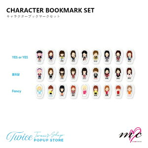 TWICE 公式グッズ POPUP STORE Twaii's Shop in Seoul【CHARACTER BOOKMARK SET】 K-POP