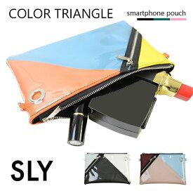 SLY スライ ポーチ ミニバッグ かばん ケース カバー iPhone Android 収納 クリア SLY スライ 「COLOR TRIANGLE」