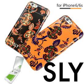 iPhone6s ケース iPhone6 ケース 花柄 可愛い かわいい スマホケース アイフォン6 iphoneケース SLY スライ 「ミラーケース/ペイズリー」