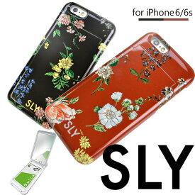 iPhone6s ケース iPhone6 ケース おしゃれ 花柄 可愛い かわいい アイフォン6 iphoneケース SLY スライ 「ミラーケース/ナイトフラワー」