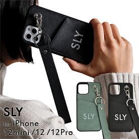 iPhone12 ケース iPhone12mini ケース iPhone12Pro ケース SLY 「ダイカッティングケース」スライ ブランド iphoneケース スマホケース 背面ケース ストラップ