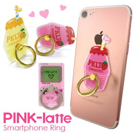 PINK-latte 「ダイカットスマホリング」 ピンクラテ おしゃれ かわいい バンカーリング ジュニア ブランド 落下防止 スマートフォン iPhone アクセサリ Xperia Galaxy