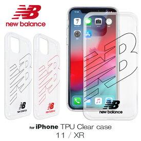 iPhone11 ケース iPhoneXR TPU ケース new balance ニューバランス TPU クリアケース「フライングロゴ」アイフォン11 iphone 11 iphone xr ケース シンプル おしゃれ スポーツ ブランド スマホケース アイフォンxr 透明 背面 クリア ケース