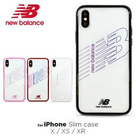 iPhoneXS ケース iPhoneXR ケース iPhoneX New Balance ニューバランス TPUケース クリア「ハイブリッドクリアケース」シンプル おしゃれ ブランド 透明 iphone ケース iphone アイフォン ケース