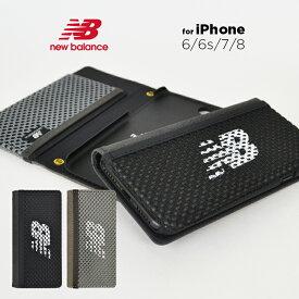 iPhoneSE 第2世代 iPhone8 ケース 手帳型 iPhone7 ケース new balance ニューバランス iPhone6s iphone6 手帳ケース 「メッシュ手帳ケース」 ケース おしゃれ 留め具なし ストラップホール アイフォン8 iphonese2