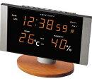 電波置き時計アデッソ製デジタルC-8305ORオレンジLED電波時計