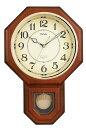 掛け時計 MAG(ノア精密) アナログ クラシック振り子時計 洋鳴館 (ようめいかん) W-514 BR 【楽ギフ_包装選択】【あす楽対応】【E】【Q】