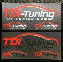 【TDI Tuning ロゴステッカー】ホワイト・ブラック2枚セット