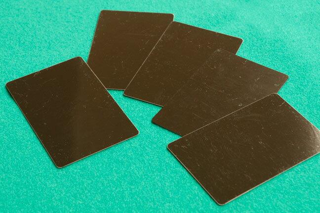 【カジノ用品】 ブリッジサイズカットカード 5枚セット【ネコポス対応可】