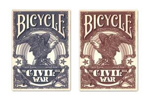 【トランプ】 BICYCLE CIVIL WAR BLUE/RED≪ バイスクル シビルウォー 青・赤 ≫【ネコポス対応可】
