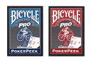 【トランプ】 BICYCLE PRO POKER PEEK BLUE/RED≪ バイスクル プロ ポーカーピーク 青・赤 ≫【ネコポス対応可】