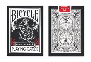 【トランプ】BICYCLE BLACK TIGER/RED PIPS ≪バイスクル ブラックタイガー/レッドピップス≫【ネコポス対応可】