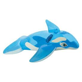 【お安くなってます!】リルホエールライドオン シャチフロート ホエールライドオン シャチ浮き輪 シャチウキワ インテックス 58523