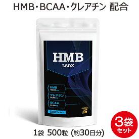HMB サプリメント タブレット LSDX 3袋 セット 1500粒 約3ヶ月分BCAA クレアチン アルギニン シトルリン 配合されたワンランク上の HMB サプリ が登場