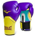 Everlastエバーラストプロスタイルエリート練習用ボクシンググローブ12ozパープルイエロー並行輸入品