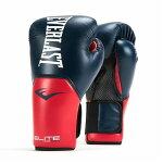 Everlastエバーラストエリートプロスタイル練習用ボクシンググローブ14ozネイビーブルーレッド並行輸入品