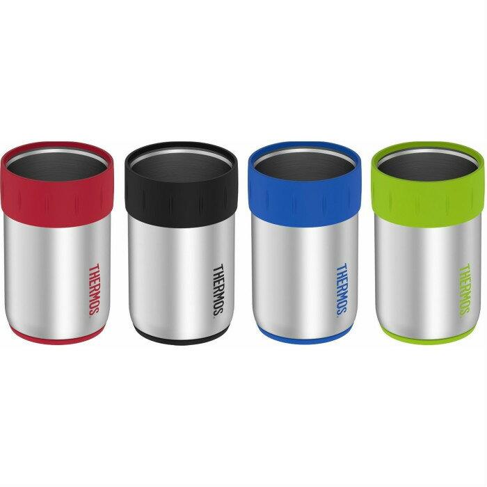 サーモス ジャストフィット缶クーラー お得な4色セット ブラック、レッド、ブルー、ライム 350ml缶がジャストフィット 並行輸入品