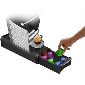 カプセルホルダー12個収納 ブラック TRY03-BLK ネスプレッソ K-Cups Verismo ドルチェグスト スリムタイプ マインドリーダー 「カプセル別売り」並行輸入品【 Mind Reader カプセル収納 小型収納 平置