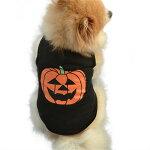 ワンちゃんベストブラックかぼちゃハロウィンコスプレ衣装/サイズXS、S、M、L/小型/服/犬【メール便/送料無料】