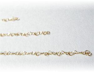 K10ハートチェーン1cm=ハート5コマ切り売り ジュエリー jewelry アクセサリー accessory ゴールドアクセサリー チャーム・ネックレスに 宝石 天然石 ファッション 大人コーデ プレゼント ギフト
