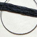 ブルーサファイヤ 極小1.8mmミラボール SVネックレス 40cm (4mmワッカチャーム着脱できます)
