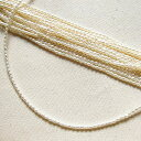 極小淡水パール SVホワイト ピンクライスケシ2.0-2.5mm 40cm 4mmワッカチャーム着脱できます 母の日 パーツ シルバー
