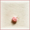 ふんわりピンク コンクシェル薔薇 8mm K10チャーム【年末年始新作】