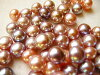 With color freshwater pearl pink button 9.5mm no hole Ruth K10 charm rust natural as for the mode