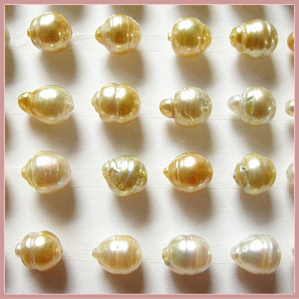 白蝶真珠バロック 貫通穴ルース 9mm〜11mm 【ウィンタークリアランス】南洋真珠 真珠 パール 裸石