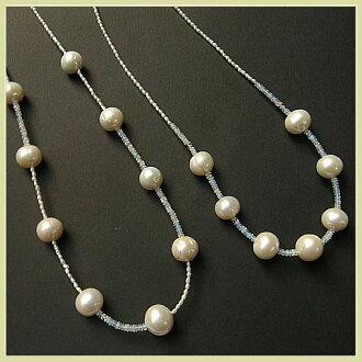 含大颗粒淡水珍珠埃塞俄比亚产蛋白石的SV站项链