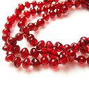 レッドアンバー 真っ赤な柘榴の実のような 琥珀ネックレス 68cm前後