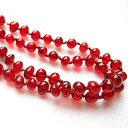 レッドアンバー 真っ赤な柘榴の実のような 琥珀ネックレス 90cm前後