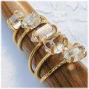 ハーキマーダイヤモンド 高品質 SVソリテールリング シルバー925 指輪 ハーキマーダイアモンド ニューヨーク州産水晶