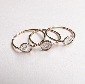 スライス ダイヤモンドリング K10 手巻きリング Ring 0.10ct前後 【豊穣フェスタ限定】