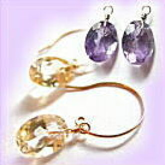 Natural stone earrings-dressing up! Selecting each K10 Pierce dress fittings (a-4) dress with charm.