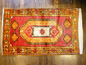 Turkey Sivas from OLD hand-woven carpet & Kilim tubal (bag)